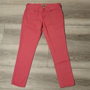 Lucky Brand Jeans Pink Lola Skinny Ankle C…